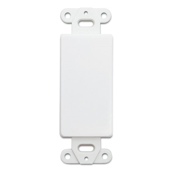 Leviton 80414W White Decora Style Blank Insert Face Flush Mount Nylon Insert for Decora Opening Covers, Part # 80414-W