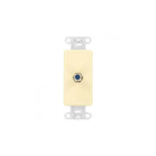 Leviton 40649A Almond Decora Style RJ11 Insert Face Flush Mount Nylon Telephone DSL Satellite Communication Signal Connection Insert for Decora Opening Covers, Part # 40649-A