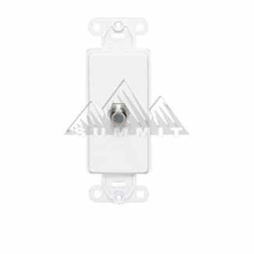 Leviton 40681W White Decora Style F-81 Jack CATV Insert Face Flush Mount Nylon Cable Satellite Video Signal Outlet Insert for Large Device Jack Component Switch Opening Covers, Part # 40681-W