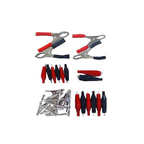 Eagle Alligator Test Clips Electrical Kit 28 Piece Low Voltage Jumpers, 6 Different Sizes for Specific Electrical Applications Includes Insulated Clips and Non-Insulated Alligator Clips, Part # 8018CK