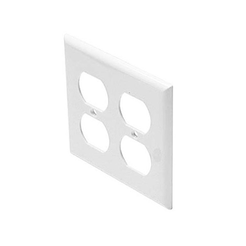 Steren 310-822WH Dual Gang Duplex Receptacle Wall Plate White UL Electrical Outlet Duplex Plug, Part # 310822-WH