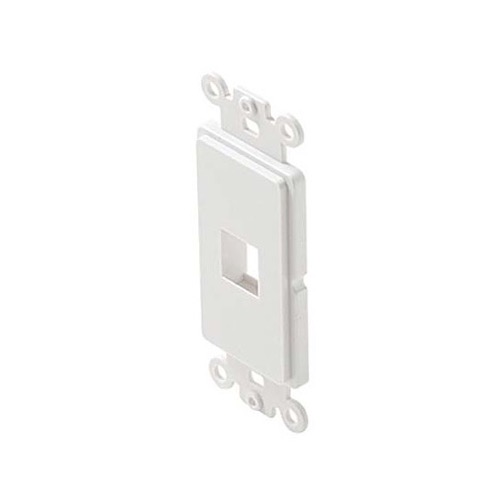 Steren 310-851WH ! Cavity Decorator Style Keystone Insert White Modular White 1 Port ABS Plastic White Easy Data Junction Component Snap-In Steren Insert, Part # 310851-WH