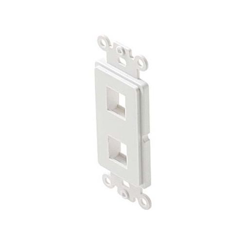 Eagle Decora Type 2 Port Keystone Insert White ABS Plastic Easy Data Junction Component Snap-In Cavity Socket