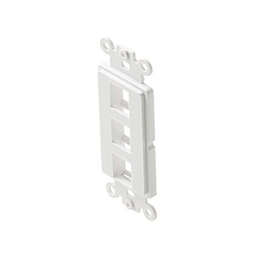Eagle Decora Type 3 Port Keystone Insert White Plate Modular ABS Plastic Easy Data Junction Component Snap-In Insert