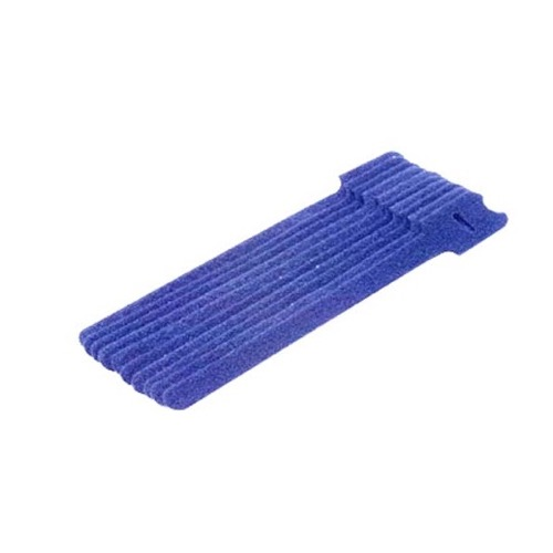 "Steren 400-858BL 8"" Inch Blue Hook and Loop Cable Ties 10 Pack Keep Cables Manageable Reusable Over and Over Will Not Crimp Cables Velcro Easy Lock Straps Telephone Cat 5e Data Line Organizer, Part # 400858-BL"