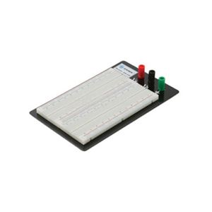 Steren 509-030 Solderless Breadboard TP 1680 Tie Point Protoboard 19-29 AWG Electronic Projects Test Reusable Prototyping ABS Polymer, Part # 509030