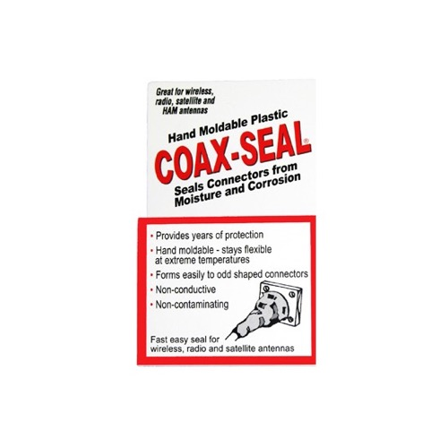 "Coax-Seal 104-36 Case of 36 Rolls of 1/2"" Inch x 60"" Inch 3/32"" Thick Hand Moladable Black Mastic Plastic Tape 36 Rolls Seals Coax Fittings Universal Waterproof Non-Conducting Roll Wire Wrap, Weather Tight Sealing Cable, Part # 104-36"