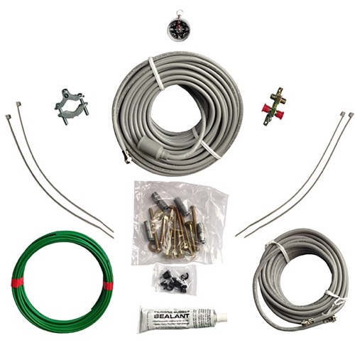 Eagle Coaxial Cable Kit For Satellite Dish Sellf Installation Hardware Kit DIRECTV Satellite DBS Dish Self Install Kit TV Antenna Coax Cable Alphastar Hardware Professional Install Sky Kit Deluxe, Do It Yourself