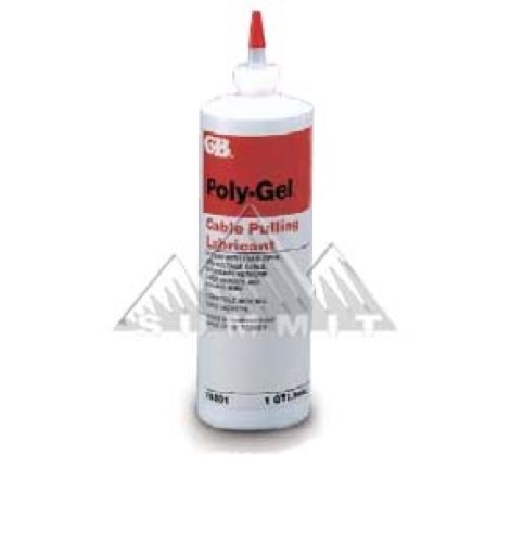 GB Gardner Bender 79-201 Poly-Gel Cable Pulling Lubricant 1 Quart Bottle Non-Staining Non-Toxic Clean Clear Gel Water Based Wire Lube Soap Clean-Up Cable Pulling Lube Gel, Part # 79201