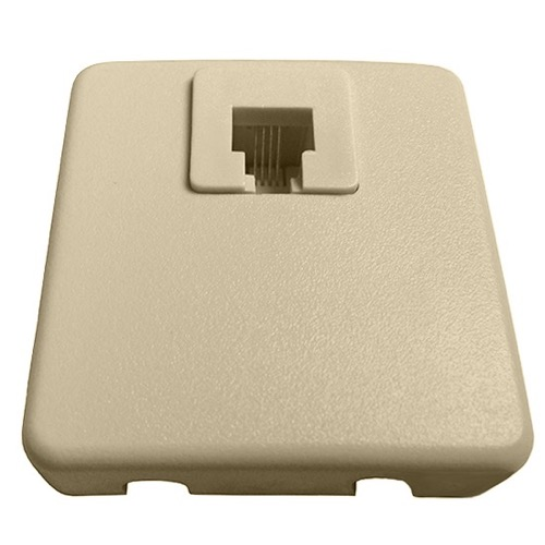 Modular Surface Mount Phone Jack Ivory Leviton C0245-I J-Box, Telephone 4 Wire Conductor Line Plug, Junction Block Cover, Part # C0245I
