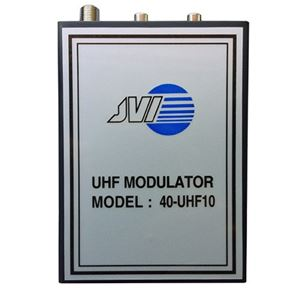 Eagle UHF-10 UHF Modulator RF Audio Video Variable Single Channel Output 14 - 32 Modulates Audio and Video Distribution Modulator Single Input JVI 40-UHF10 Audio Video Cable, Part # UHF-10