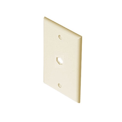 Steren 200-254AL Wall Plate Almond 1-Hole Hex Single Gang Mount Cable Cord Opening Nylon Coaxial Pass Through Connector Device Cable Hole 75 Ohm Plug, Part # 200254-AL