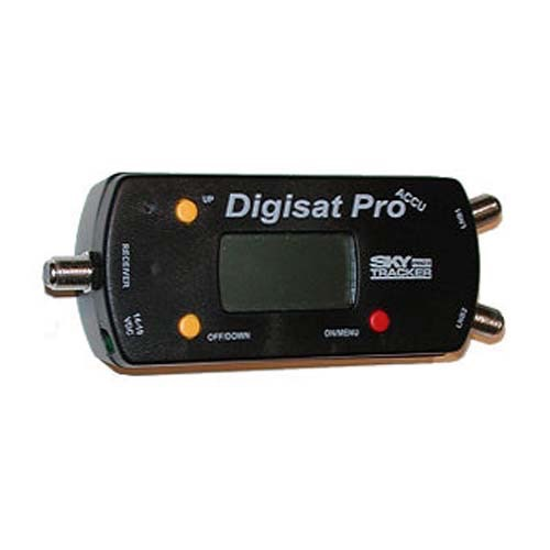 Steren 203-640 SkyTracker Pro II Dual LNB Digisat Pro Accu with AC/Car Charger Multi Satellite Signal Meter DIRECTV Strength Multi-Dish Alignment Tester, Part # 203640