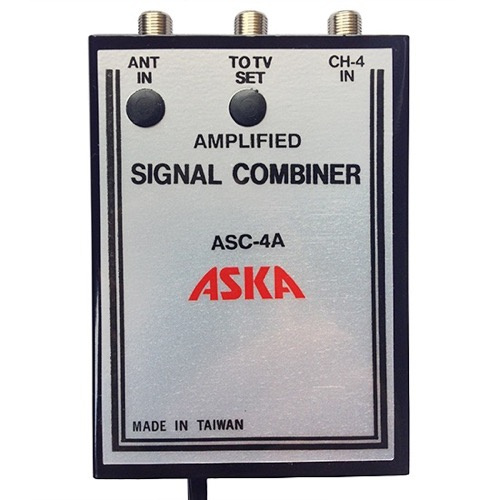 Eagle Channel 4 Signal Combiner Amplified 15 dB Video Modulator ASC-4A, CH-4 Adjustable Gain Satellite TV Dish Off-Air TV Antenna UHF / VHF Video Distribution, Part # ASKA ASC4A