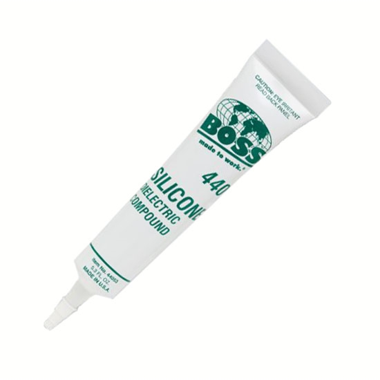 Boss 440 Silicone Dielectric Grease Compound 5.3oz Tube Clear Keeps Moisture Out of Electrical Connections Water Repellent Protectant, Part # Boss440
