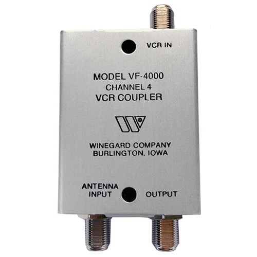 Channel 4 Signal Filter VHF TV Antenna Winegard VF-4000 Aerial Off-Air, Satellite Receiver Distribution VCR Coupler, Deep Fringe 75 Ohm Cable, AC / DC Passive Output, Part # VF4000