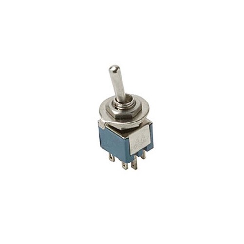 Steren 450-210 Toggle Switch SPDT On-On Sub Mini 3 A0mp Toggle Switch 3 Amp 125 VAC Solder Terminal Brass Silver Contacts Bat-Handle Panel Mountable, Part # 450210