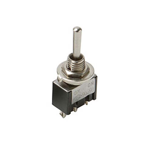 Steren 450-250 SPDT Mini Toggle Switch On-On 5 Amp 125 VAC Solder Terminal Brass Silver Contacts Bat-Handle Panel Mountable for New or Replacement Installations, Part # 450250