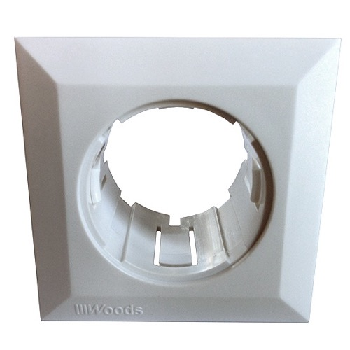 Gizzmo 5806 Single Outlet Cover Iinsert White Single Hole Holder For Gizzmo Devices Boxless Holder Home Entertainment Custom Round Device Connection System, Part # Woods Gizzmo 5806