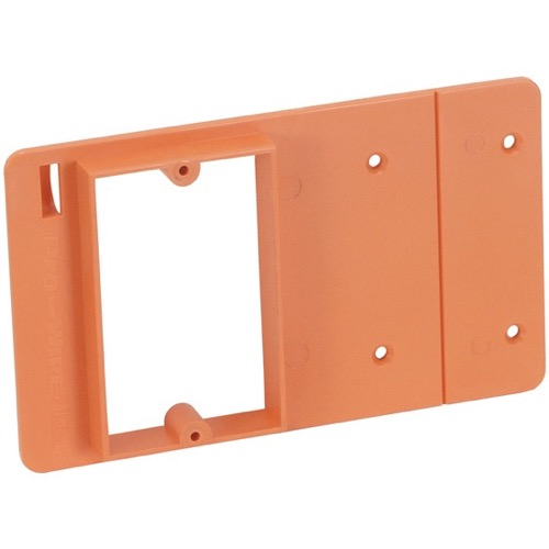 Eagle Single Gang Mud Ring Low Voltage Wall Plate Support New Construction PVC, Part # TW-MR1