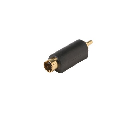 Steren 251-154 S-Video SVHS Male to RCA Male Adapter Converter Gold Plated Contacts 1 Pack Stereo Cable Connector Audio Video Tool Less Hook-Up Component Connector, Part # 251154
