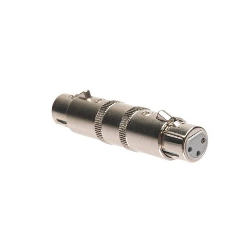 Steren 251-310 XLR 3C Female to Female Adapter Plug Gender Changer Jack Microphone Coupler 3-Pin Audio XLR Jack to XLR Jack Micro-Phone XLR Jack Microphone Extension Connector, Part # 251310