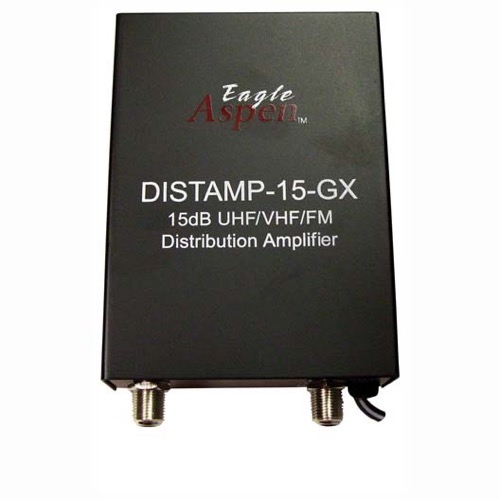 Summit TA-15 15 dB Distribution Amplifier Video Audio Signal UHF VHF FM SIngle Output 15-GX UHF / VHF / FM Antenna Aerial Single Output Audio Video Broad Band, Part # DISTAMP-15GX