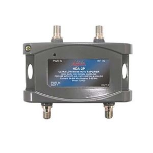 Eagle 24 dB Distribution Amplifier Digital Bi Directional 2-Way HDA-2P HDTV Ultra Low Noise CATV Off-Air Signal RF Amp Analog 54-806 MHz Forward and 5-42 MHz Reverse
