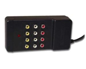 3-Way RCA Composite Stereo Audio Video Distribution Amplifier AntennaCraft 10G203 3 Set Way AV Stereo Port with Built-In Power Supply, 1 Input and 3 Output, Permacolor, Part # 10G-203