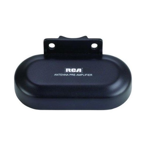 RCA TVPRAMP1R Digital Preamplifier for Outdoor Antenna FM VHF UHF 16dB Gain VHF 22dB Gain UHF Dual Input Amplified