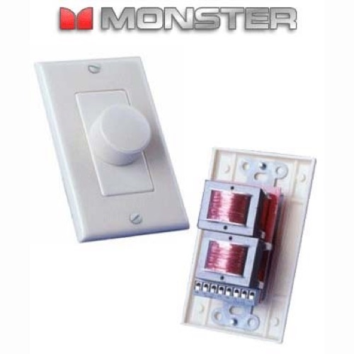 Monster 75 Watt Volume Speaker Control Stereo Audio SVC-75 In-Wall Volume Control with Impedance Matching Sound Adjustment Interface Module, 25W RMS, 75W White Flush Mount Plate, HPVOL, Part # SVC75