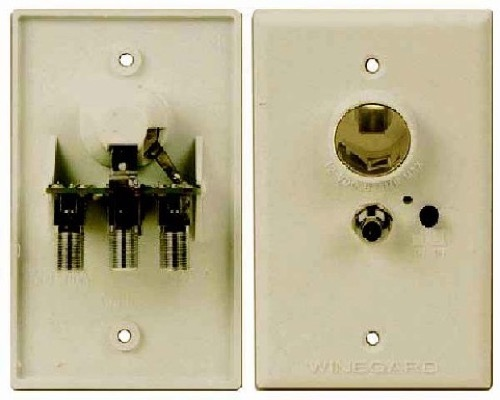 Winegard RV-7012 Wall Plate 12 VDC RV Power Supply for DSS DBS Satellite Dish Local Off-Air Outdoor Amplified HDTV Signal Aerial Antennas, Ivory, Part # RV7012