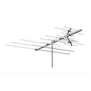 AntennaCraft HD850 Heavy Duty Outdoor TV Antenna VHF / UHF / FM 36 Element Off-Air Local High Definition Digital Signal HDTV Television Aerial 50 FT RG6 Coax With Gold F Connectors, RED ZONE, Part # HD-850 | Open Box Item