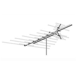 AntennaCraft HD1200 Heavy Duty TV Antenna VHF / UHF / FM Outdoor 51 Element Off-Air Local High Definition Digital Signal HDTV Television Aerial, RED ZONE, Part # HD-1200 | With 50' FT Coax Cable