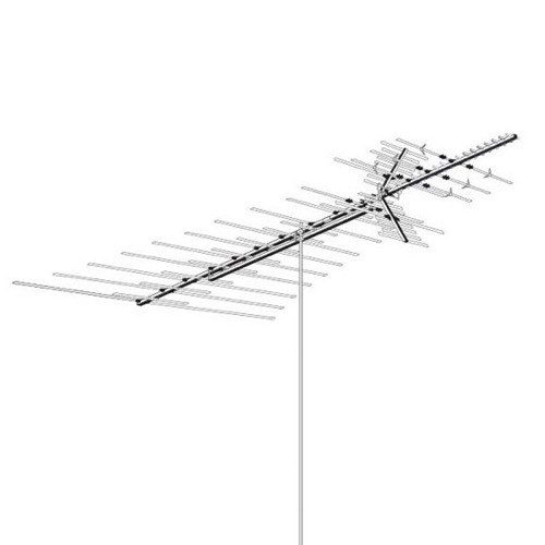 Long Range Distance Digital HDTV UHF VHF FM Antenna Heavy Duty Off-Air 84 Elements AntennaCraft HD1850 Outdoor Local High Definition Digital Signal HDTV Television Aerial 50 FT RG6 Coax With Gold F Connectors, BLUE ZONE, Part # HD-1850