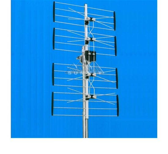 DIGIWAVE ANT-2084 Outdoor 4-Bay UHF HDTV Digital TV Antenna 470 - 862 MHz CH 21 - 69 Gain 10 - 13 dB Heavy Duty Design Four Bay UHF HD TV Aerial, LIGHT GREEN ZONE, Part # ANT2084 | With 50' FT Coaxial Cable | Open Box Item