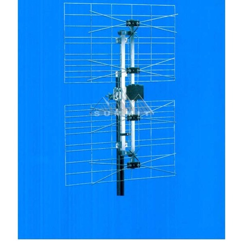 DIGIWAVE ANT-2087 HDTV Digital Double 2-Bay - 4-Bay Antenna Outdoor High Gain UHF Multi Bow-Tie Digital TV 470 - 862 MHz CH 21 - 69 Gain 10 - 13 dB Heavy Duty Four Bay UHF HD TV Aerial, LIGHT GREEN ZONE, Part # ANT2087