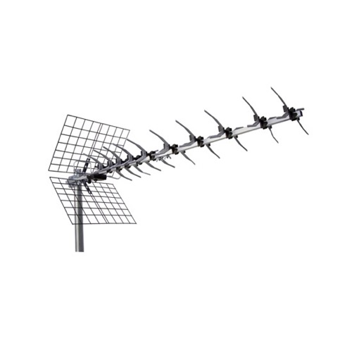 Picture Perfect ANT-2104 UHF Yagi Antenna Digital Outdoor HDTV 47 Element Directional Ultra Clear Pre-Mounted 470 - 862 MHz Ch 21 - 69 Gain 11 - 15 dB High Gain Heavy Duty UHF HD Aerial, RED ZONE, Part # ANT2104 | With 50' FT Coaxial Cable
