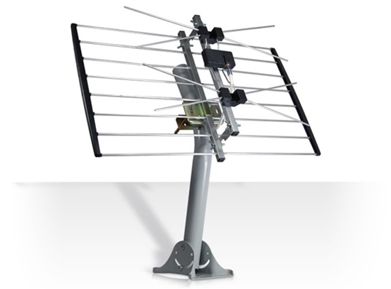 Channel Master 2 Bay 4220MHD UHF Terestrial Antenna DB2 METROtenna 4220MHD Bowtie Two Bay HDTV Digital Aerial with J-Pipe Mount Outdoor Roof Top Local Signal Bow Tie, GREEN ZONE, Part # CM4220MHD | With 50' FT Coax Cable