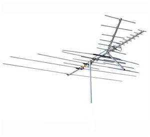 Channel Master 3677 Ultra-Hi Crossfire VHF / UHF / FM HD TV Antenna CM3677 35 Element Fringe Off-Air Local Signal Aerial, BLUE ZONE, Part # CM-3677 | With 50' FT Coax Cable