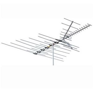 Channel Master 3679 Deep Fringe Cross Fire VHF / UHF / FM HD TV Antenna CM3679 46 Element Off-Air Local Signal Aerial 50 FT RG6 Coax With Gold F Connectors, BLUE ZONE, Part # CM-3679