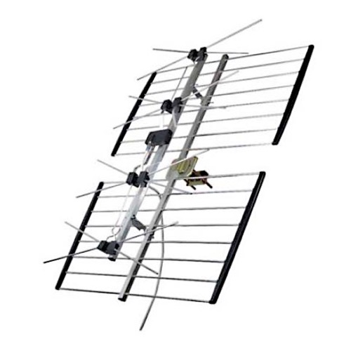 Channel Master 4221HD UHF 4 Bay HD TV Terrestrial Antenna ULTRAtenna Digital Bowtie DB4 HDTV 4221HD Four Bay Outdoor Roof Top Off-Air Local Signal Digital Aerial, LIGHT GREEN ZONE, 50 FT RG6 Coax Cable with F Connectors Part # 4221HD