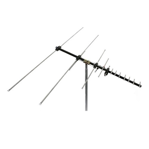 Channel Master CM-5016 Masterpiece HDTV Outdoor Antenna Digital FM UHF VHF Heavy Duty 60 Miles 15 Element Near Fringe 50 FT RG6 Coax With Gold F Connectors | RED ZONE