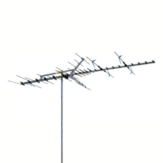 Winegard HD-7697P Digital HDTV High Definition VHF/UHF HD-769 Series Antenna 53 Element Off-Air Local Signal Channel Outdoor Television Aerial, BLUE ZONE, Part # HD-7697P | With 50' FT RG6 Coax Cable