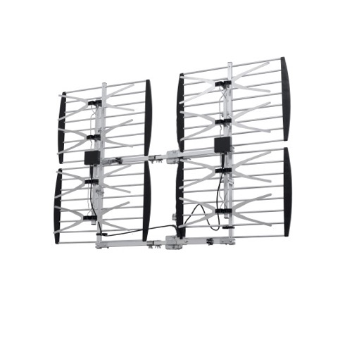 DIGIWAVE ANT-7286 Super HDTV Digital 8-Bay Antenna Multi-Directional Outdoor UHF Heavy Duty Design TV Antenna CH 21 - 69 High Gain 20 - 36 dB 70 Mile Range UHF HD TV Aerial, BLUE ZONE, Part # ANT7286 | With 50' FT Coaxial Cable