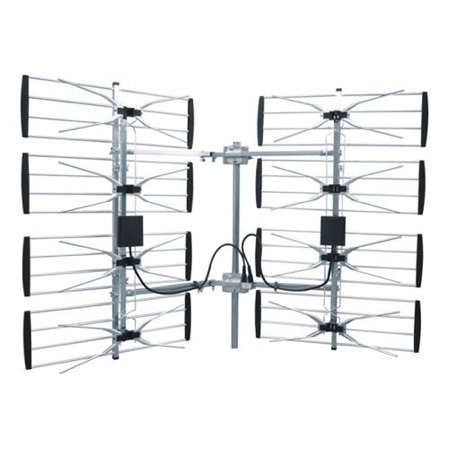 DIGIWAVE ANT-7287 8-Bay UHF Outdoor Antenna Multi-Directional HDTV Outdoor Antenna Ultra Clear Super Strong 360 Degree Directional UHF CH 21 - 69 High Gain 20 - 36 dB 70 Mile Range UHF HD TV Aerial, BLUE ZONE, Part # ANT7287
