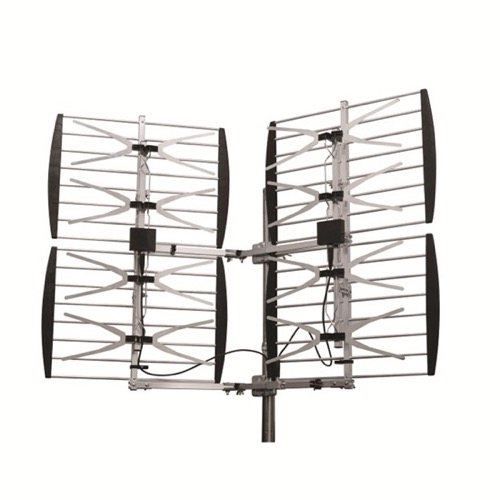DIGIWAVE ANT-7288 Super HDTV Digital 8-Bay Antenna UHF Adjustable Multi-Directional DB8 Outdoor High Gain 20 - 36 dB 360 Degree Heavy Duty Design 70 Mile 8 Element CH 21 - 69 UHF HD TV Aerial, BLUE ZONE, Part # ANT7288 | With 50' FT Coaxial Cable