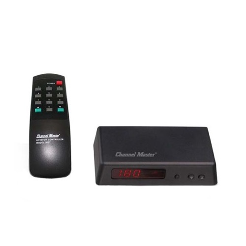 Channel Master 9537 Antenna Rotator Automatic Control Unit CM9537 TV Rotor Controller Unit Outdoor Local Off-Air Video Signal Roof Top Mast Mount Finder Locator Upgrade with Universal IR Remote, Part # CM-9537