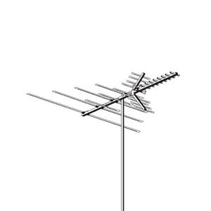 "AntennaCraft C290 Digital UHF VHF FM HDTV Outdoor Antenna 78"" Inch Boom 29 Element Fringe Outdoor Television Aerial for Off-Air Local High Definition Digital Signal HDTV Reception, RED ZONE, Part # C-290"