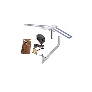 Channel Master 3010 3038 STEALTHtenna Antenna Amplified Kit HDTV with Mount Digital Bundle Outdoor Off-Air Local Signal Aerial, Internal Preamp and 3009 J Pipe Included, GREEN ZONE, Part # CM3010, CM3038, CM3009 | With 50' FT Coax Cable